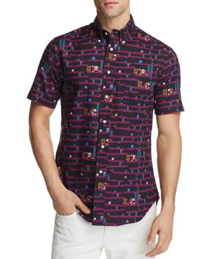 Gitman Vintage Nintendo Short Sleeve Button-Down Shirt - 100% Exclusive 2855405