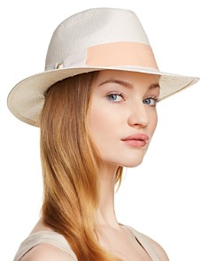 AQUA Bow Detail Fedora - 100% Exclusive - Bloomingdale's_0
