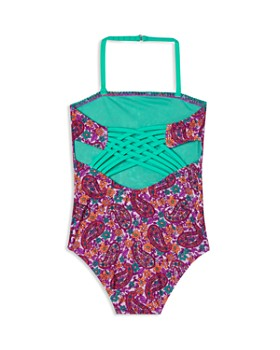 Hula Star - Girls' Paisley Dream Swimsuit - Little Kid