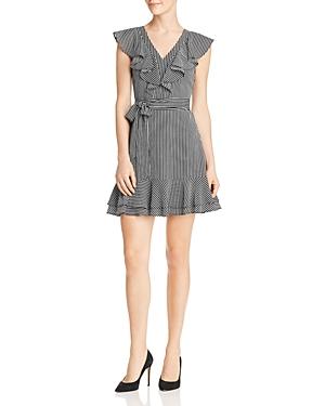 Joa Ruffled Striped Dress