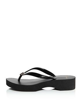 6699b56443a ... Tory Burch - Women's Cut-Out Wedge Flip-Flops