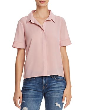 French Connection Pleated Cuff Button-Down Shirt