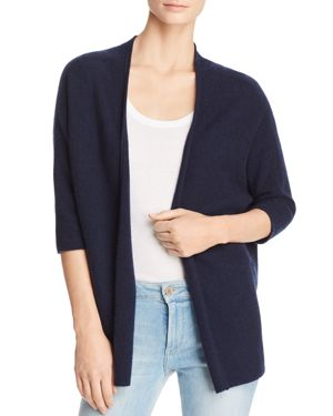 Minnie Rose Open-Front Cashmere Cardigan