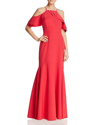 Nicole Miller New York - Cold-Shoulder Gown