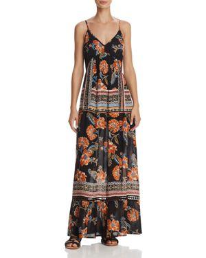 Aqua Floral Print Tie-Back Maxi Dress - 100% Exclusive 2847516