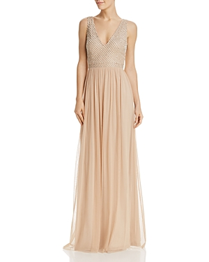 Adrianna Papell Embellished Bodice Gown