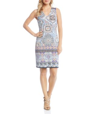 Karen Kane Tile-Print Sheath Dress 2858312