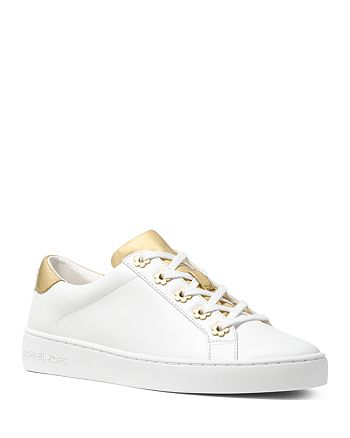 ee22855624ea MICHAEL Michael Kors Women s Irving Leather Lace Up Sneakers ...