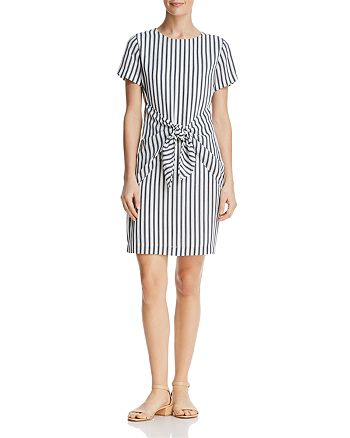 Dylan Gray - Striped Tie-Front Dress