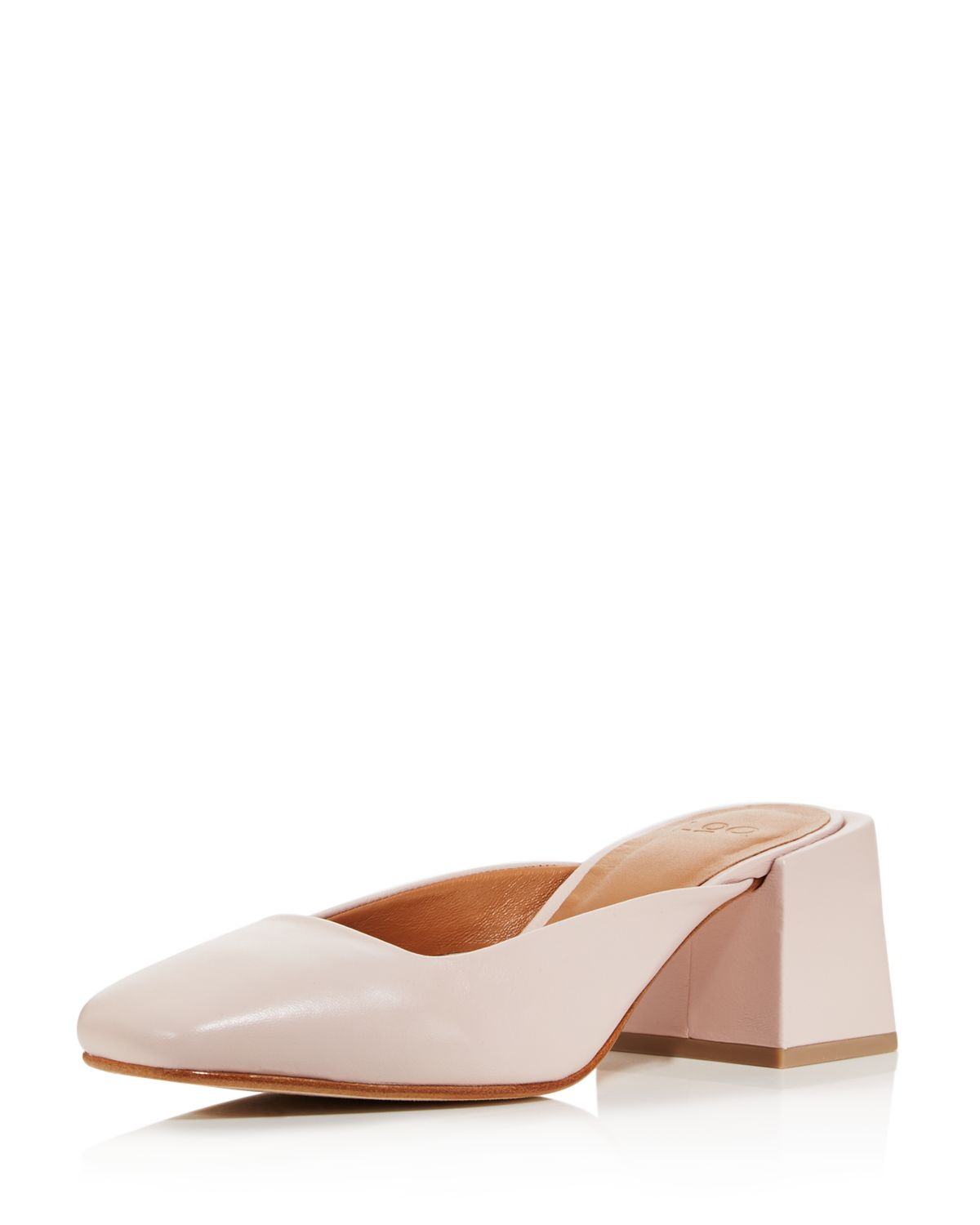 LOQ Women's Leather Square Heel Mules