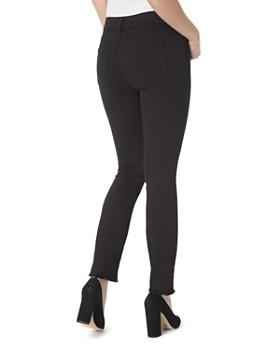NYDJ - Sheri Frayed-Hem Slim Ankle Jeans in Black