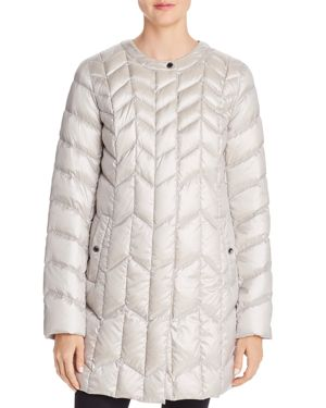 PACKABLE CHEVRON-QUILTED DOWN COAT