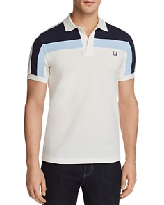 Fred Perry Color Block Pique Short Sleeve Polo Shirt - Bloomingdale's_0