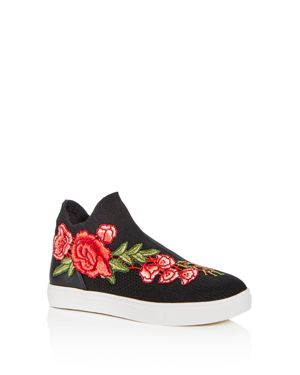 Steve Madden Girls' Floral Applique Knit High Top Sneakers - Little Kid, Big Kid 2825838