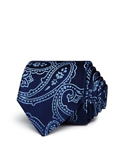 HUGO Exploded Paisley Silk Skinny Tie - Bloomingdale's_0
