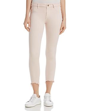 DL1961 Florence Instasculpt Crop Skinny Jeans in Blush Pink