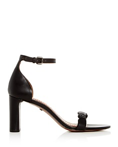 COACH - Women's Ankle Strap Block Heel Sandals