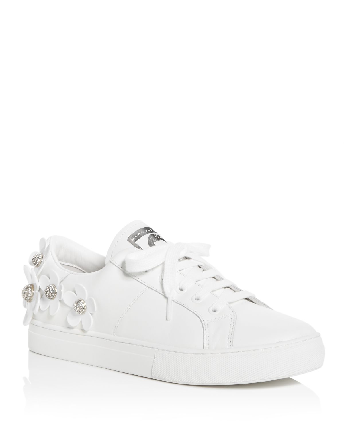 Marc Jacobs Women's Daisy Embellished Leather Lace Up Sneakers