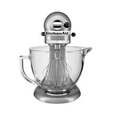 KitchenAid - 5-Quart Tilt Head Stand Mixer with Glass Bowl & Flex Edge Beater Model #KSM105GBC