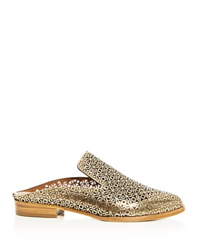 Clergerie - Women's Asier Perforated Patent Leather Mules