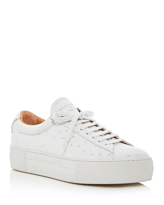 Zespà Women's Dessus Supakitch Leather Lace Up Platform Sneakers - 100% Exclusive UkQgifA