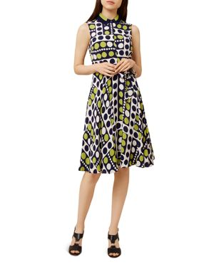 Hobbs London Belinda Dot Print Shirt Dress