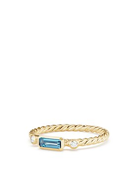 David Yurman - 18K Yellow Gold Novella Ring with Diamonds & Gemstones
