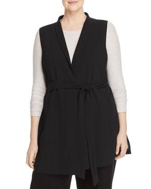 Eileen Fisher Plus Silk Wrap Vest