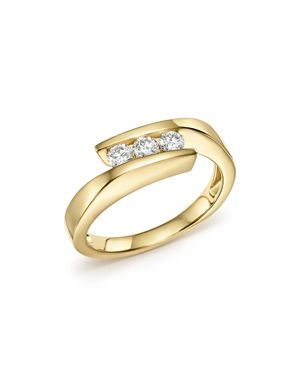 Bloomingdale's Diamond Three Stone Band in 14K Yellow Gold, 0.30 ct. t.w- 100% Exclusive