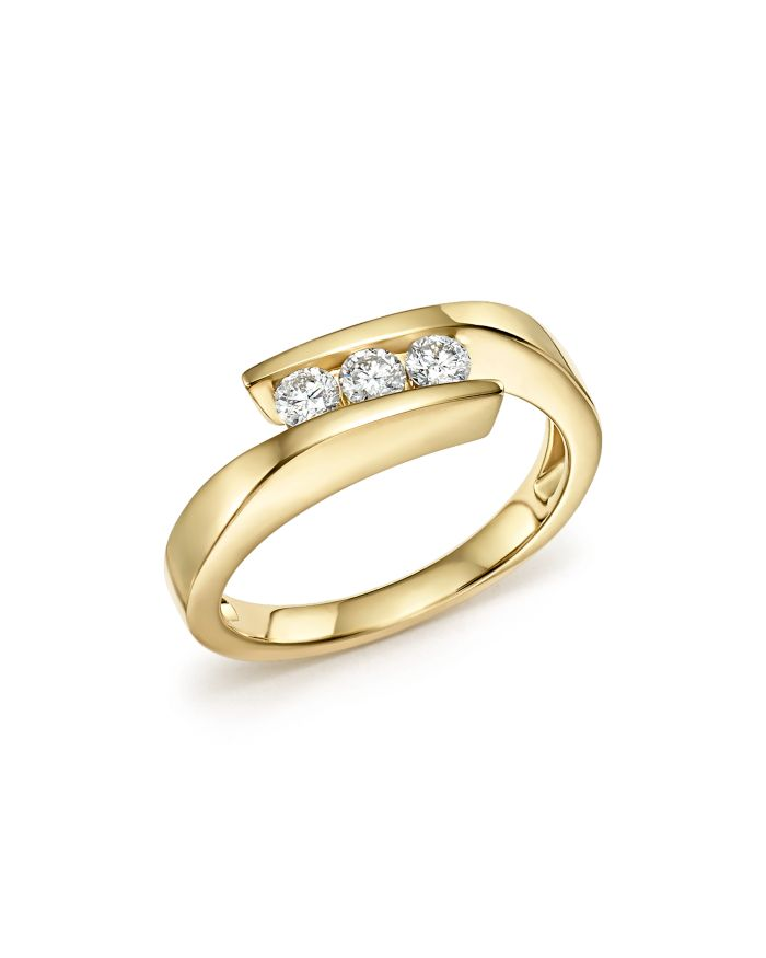 Bloomingdale's Diamond Three Stone Band in 14K Yellow Gold, 0.30 ct. t.w.- 100% Exclusive     Bloomingdale's