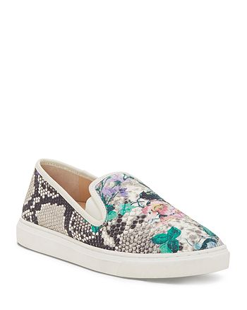 VINCE CAMUTO - Women's Becker Metallic Embossed Slip-On Sneakers