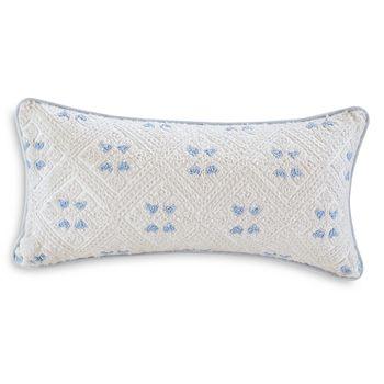 "Echo - Ravi Embroidered Decorative Pillow, 10"" x 20"""