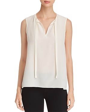 Tory Burch Jess Silk Tie-Neck Top