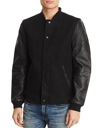 aae6903d7 Superdry Varsity Leather Bomber Jacket | Bloomingdale's