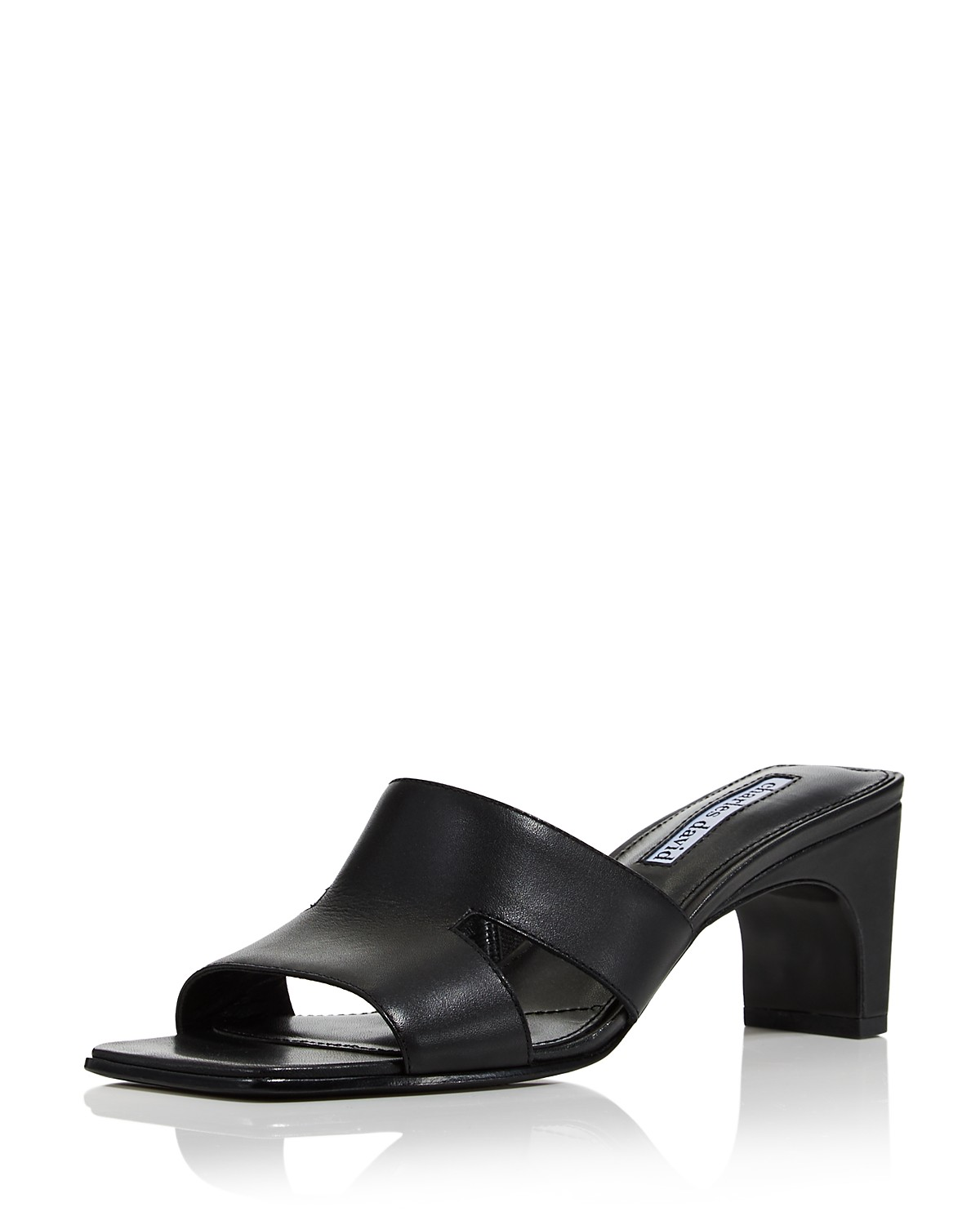 Charles David Women's Harley Leather Cutout Slide Sandals KxDVr