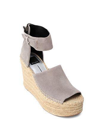 0729e4144bce7 Dolce Vita Women's Straw Suede Platform Wedge Espadrille Sandals ...