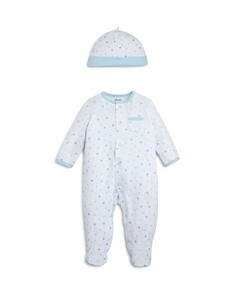 Little Me - Boys' Star-Print Footie & Cap Set, Baby - 100% Exclusive