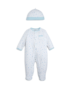 Little Me Boys' Star Print Footie & Cap Set Baby - 100% Exclusive
