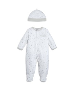Little Me - Unisex Star-Print Footie & Cap Set, Baby - 100% Exclusive