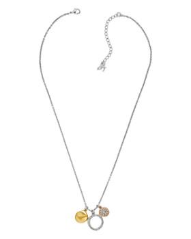 "ADORE - Organic Circle Charm Necklace, 16"""
