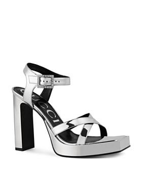 Gucci - Women's Costanze Leather Ankle Strap Platform Sandals