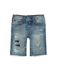 True Religion - Boys' Geno Distressed Denim Shorts - Little Kid, Big Kid