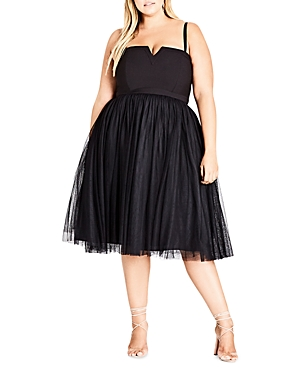 City Chic Princess Fit-and-Flare Dress
