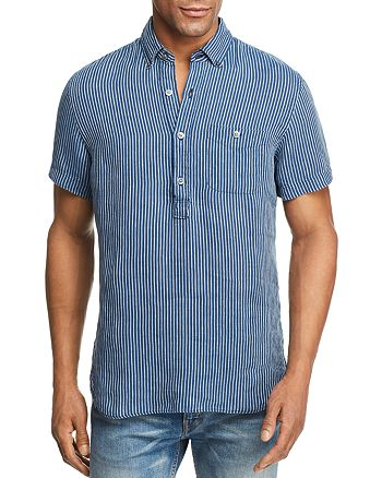 Todd Snyder - Striped Short Sleeve Popover