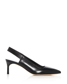 Via Spiga - Women's Blake Leather Slingback Kitten Heel Pumps