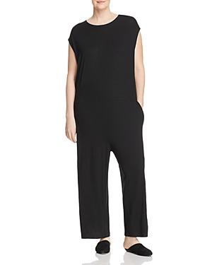 New Eileen Fisher Plus Wide-Leg Jumpsuit, Black