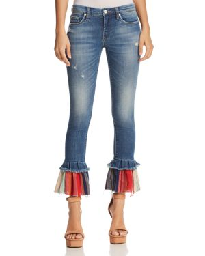 Blanknyc Contrast-Hem Flared Jeans in Missed Connections 2874303