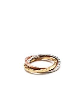 Aman Imports - Hammered-Brass Bangles Napkin Ring - 100% Exclusive