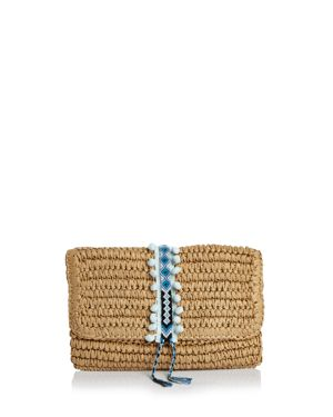 FALLON & ROYCE REESE FOLD OVER STRAW CLUTCH
