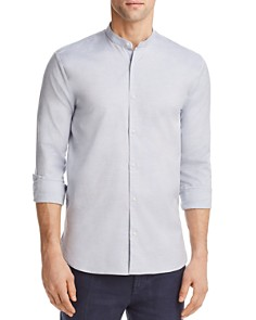 HUGO Eddison Heathered Regular Fit Band Collar Button-Down Shirt -  Bloomingdale's_0